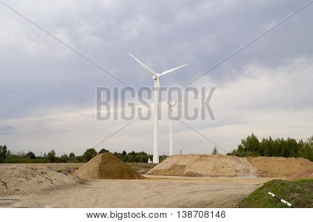 Damage the screw and the blades of wind generators