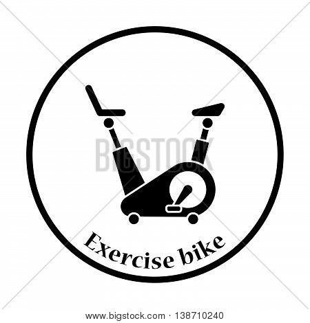 Icon Of Exercise Bicycle