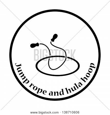 Icon Of Jump Rope And Hoop