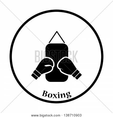 Icon Of Boxing Pear And Gloves