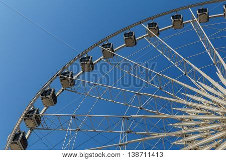 Ferris Wheels With Blue Sky. Ferris Wheels  At Asiatique The Riverfront Is Landmark In Bangkok, Thai