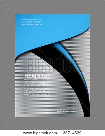Presentation of flyer design content background template