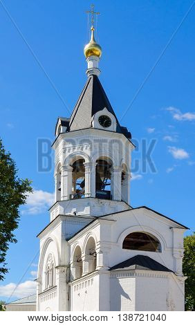 Temple with bell tower in honor of Saint Blessed Grand Prince Alexander Nevsky Nativity Monastery Vladimir Russia