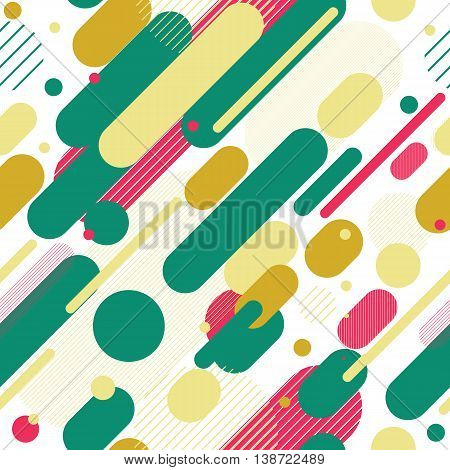 Vector Seamless Parallel Diagonal Red Pink White Green Overlapping Color Lines Pattern Background Perfect Suit For Wallpaper Textile Web Background