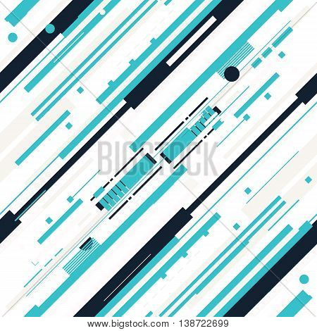 Vector Seamless Parallel Diagonal White Blue Overlapping Color Lines Pattern Background Perfect Suit For Wallpaper Textile Web Background