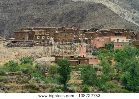 Old village in the Atlas Mountains Morocco