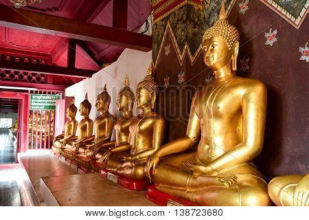 Buddha Stature in Wat phra sri rattana mahathat vora maha viharn Phitsanulok Province