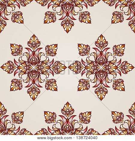 Seamless abstract floral pattern in the form of saturated flowers