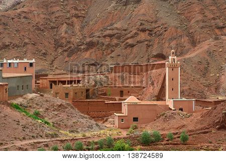 Old village in the Atlas Mountains, Morocco
