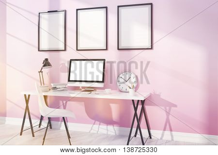 Comfortable Modern Study With Posters
