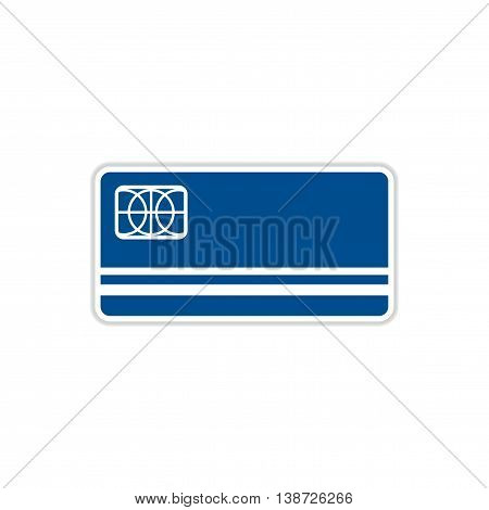 paper sticker on white  background bank card