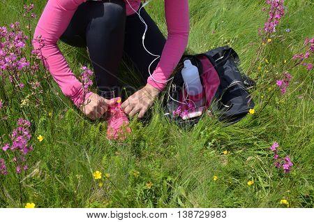 Woman Preparing For Running
