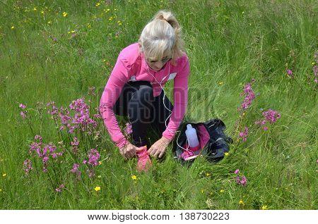 Woman Preparing For Sport
