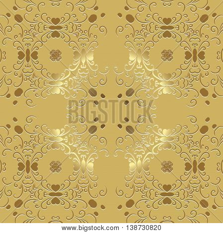 openwork pattern embossed vintage. Decor wallpaper under bright pastel colors