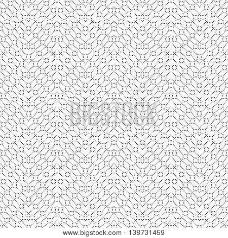 Geometrical seamless pattern. Stylish modern texture. Infinitely repeating small textured ornament consisting of small dots dotted rhombuses zigzags. Vector abstract seamless background. Contemporary design
