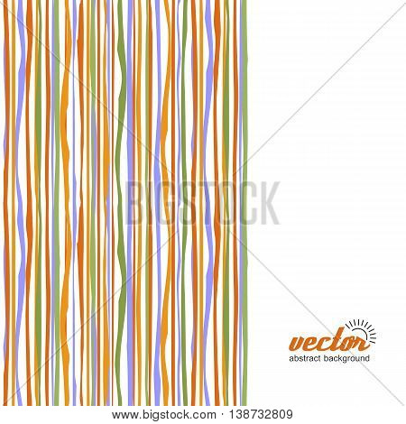 Background - colorful waves and lines. Vector.