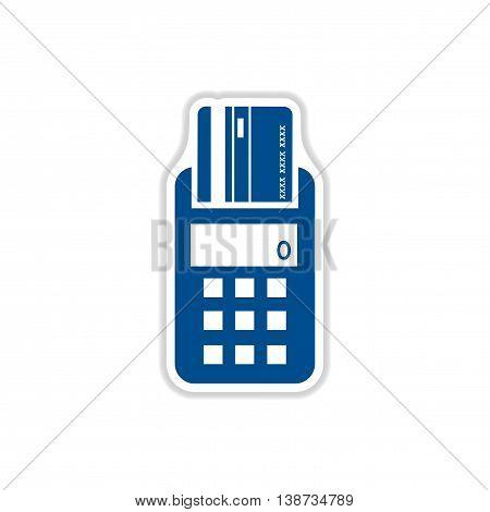 paper sticker icon on white background terminal