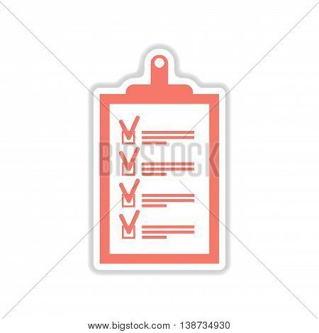 paper sticker icon on white background form