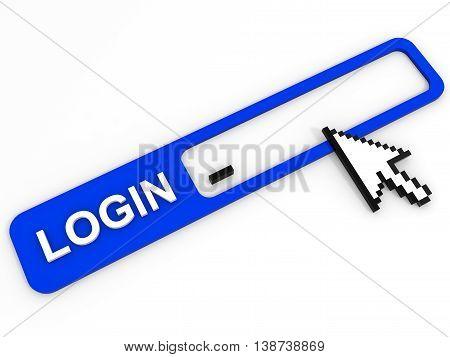 Login Field. Internet Security Concept.