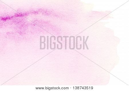 Bright watercolor stain with watercolour paint stroke. Watercolour abstract hand painted textured wet ink spot for background.