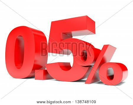 Red Zero Point Five Percent Off. Discount 0.5 Percent.
