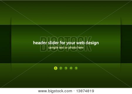 Vector header slider for your web design