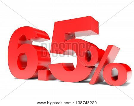 Red Six Point Five Percent Off. Discount 6.5 Percent.