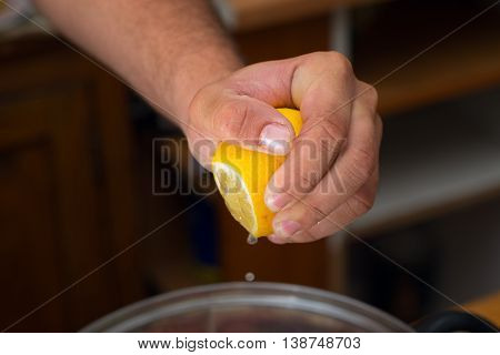Squeeze Lemon Juice On Hand