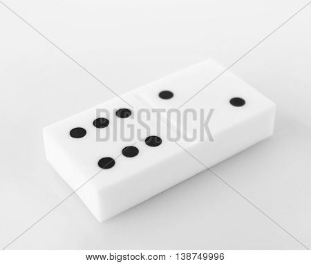 Domino, isolated on white