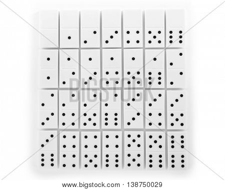 Dominoes, isolated on white
