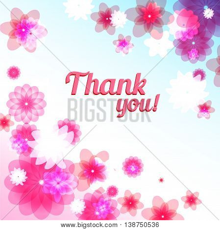 Thank you floral card with place for text