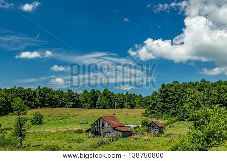 An old barn on the Blue Ridge Parkway in Floyd County Virginia