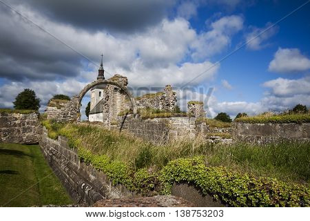 convent ruins and the church at gudhem sweden