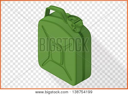 jerrycan isometric flat vector 3d illustration isolated on white background