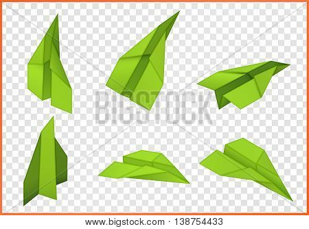 paper plane isometric flat vector 3d illustration isolated on white background