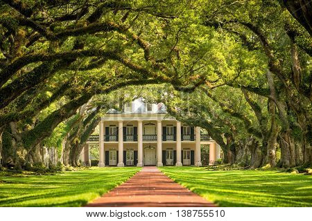 Oak Alley Plantation in New Orleans Louisiana