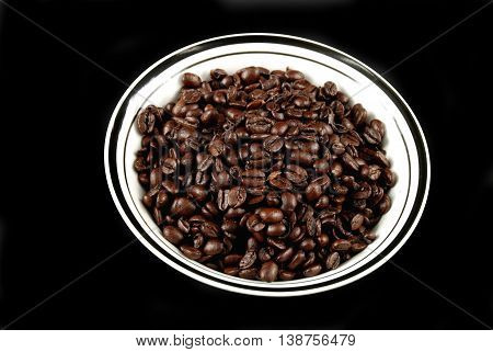 coffee beans in a bowl ready to be used