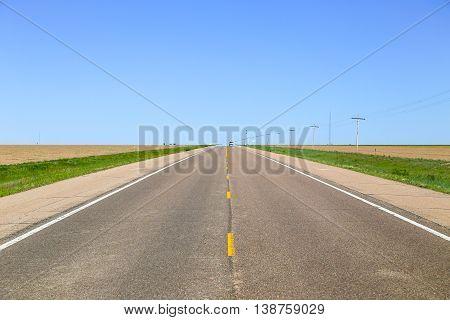 Highway Through Fields