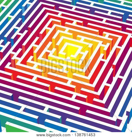 abstract background with 3d vector labyrinth