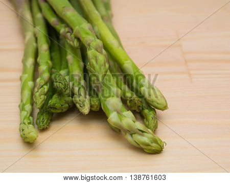 Asparagus Organic Food Object On Wood Background