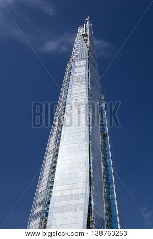 The Shard In London With Blue Sky, Editorial