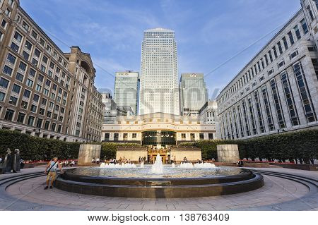 Cabot Square In London, Editorial