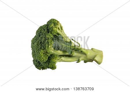 broccoli on white backgroud  isolated clipping path