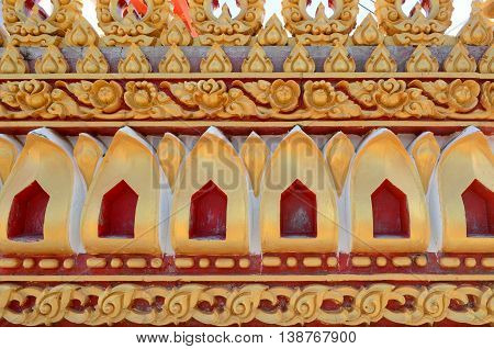Thailand stucco pattern background relics in the temple.