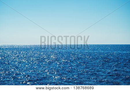 Sea and sky on a sunny day