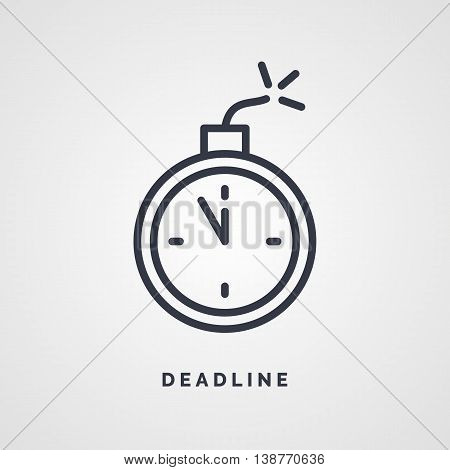 Linear icon for business on a deadline. Vector illustration.