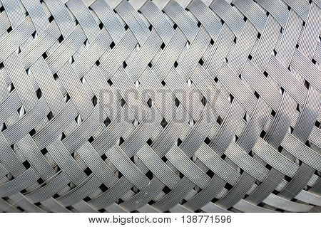 Close up from metal shiny chrome mesh