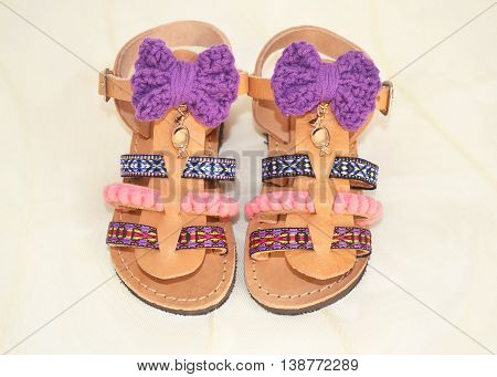 greek sandals for kids - summer bohemian sandals