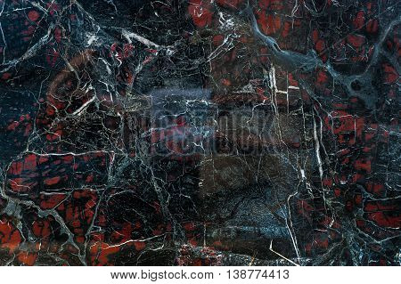Black Onyx With Red Spots Texture