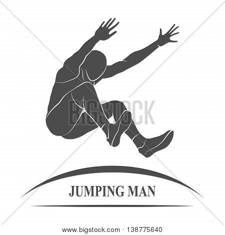 The athlete jumps in length.  illustration.